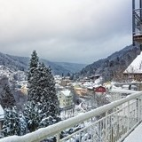 Aussicht auf Bad Wildbad vom Wellnesshotel Rothfuss im Winter