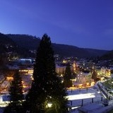 Abendstimmung im Wellnesshotel Rothfuss in Bad Wildbad im Winter