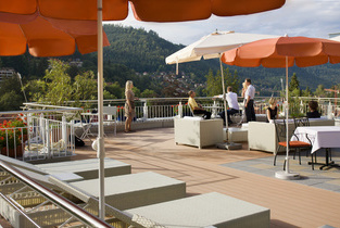Sonnen-Terrasse des Wellnesshotels Rothfuss in Bad Wildbad